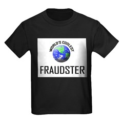 World's Coolest FRAUDSTER Kids Dark T-Shirt