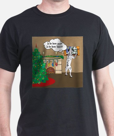 Waiting For Santa Dalmation Christmas T-Shirt