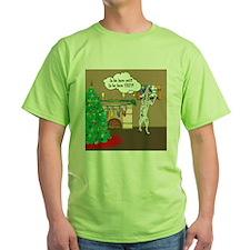 Waiting For Santa Dalmation Christmas T-Shirt