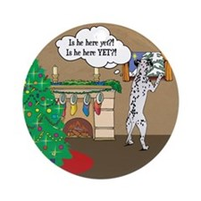 Waiting For Santa Dalmation Christmas Ornament (Ro