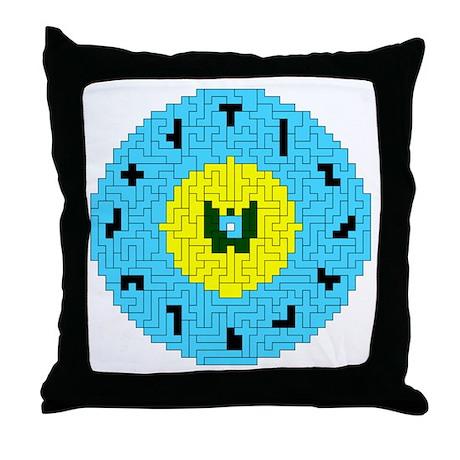PENT CLOCK Throw Pillow