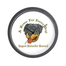 Support Rottweiler Rescues Wall Clock