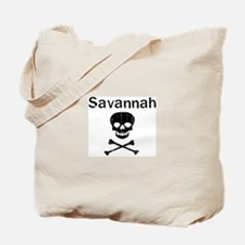 Savannah (skull-pirate) Tote Bag