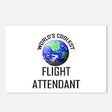 World's Coolest FLIGHT ATTENDANT Postcards (Packag