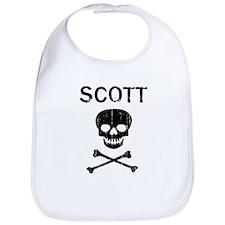 SCOTT (skull-pirate) Bib
