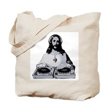 Jesus As A DJ T-Shirt Tote Bag