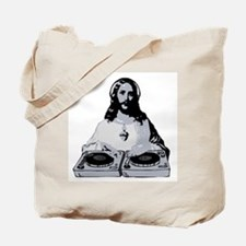 Jesus As A DJ T-Shirt Tote Bag