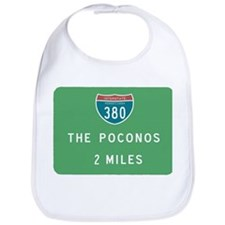 Poconos 380 Exit Sign T-shirt Bib