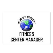 World's Coolest FITNESS CENTER MANAGER Postcards (