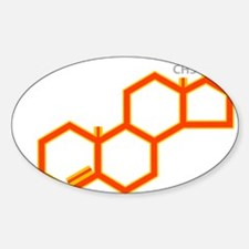 TESTOSTERONE SYMBOL Oval Decal