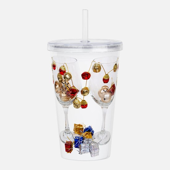 CheerfulWineGlasses053 Acrylic Double-wall Tumbler