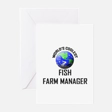 World's Coolest FISH FARM MANAGER Greeting Cards (