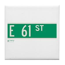 61st Street in NY Tile Coaster
