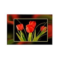 Cute Floral Rectangle Magnet
