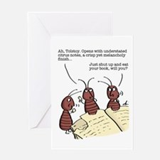 Tolstoy Bookworm Greeting Card