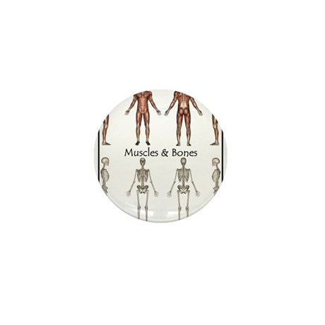 Muscles and Bones Mini Button (100 pack)