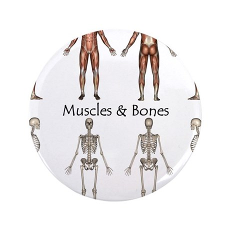 """Muscles and Bones 3.5"""" Button"""