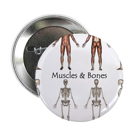 """Muscles and Bones 2.25"""" Button (100 pack)"""