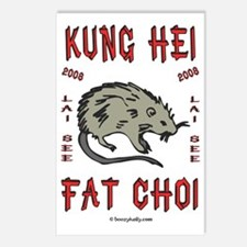 Year Of The Rat 2008 Postcards (Package of 8)