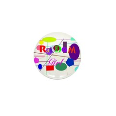 Random Girl Mini Button (10 pack)