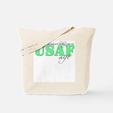 Lucky like us: USAF Wife Tote Bag