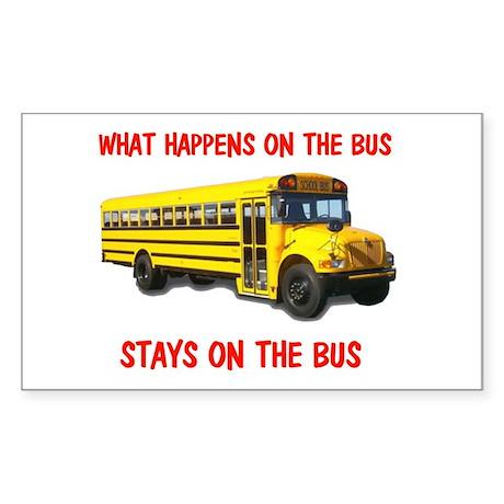SCHOOL BUS Rectangle Sticker