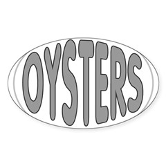Oysters Oval Oval Decal