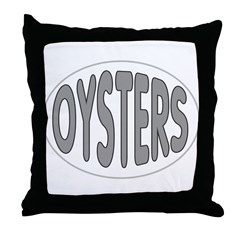 Oysters Oval Throw Pillow