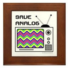 SAVE ANALOG Framed Tile