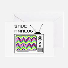 SAVE ANALOG Greeting Card
