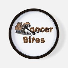 Cancer Bites Wall Clock