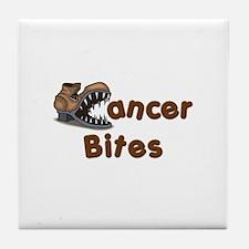 Cancer Bites Tile Coaster