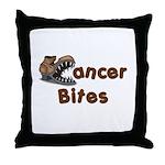 Cancer Bites Throw Pillow