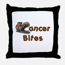 Cancer Bites Throw Pillow