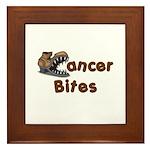 Cancer Bites Framed Tile