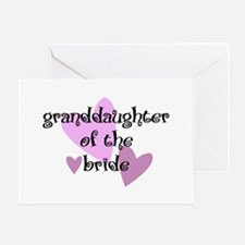 Grand Daughter of the Bride Greeting Card