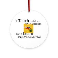 Cute Aba autism Ornament (Round)