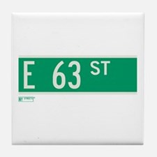 63rd Street in NY Tile Coaster