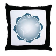 United Dolphins Throw Pillow
