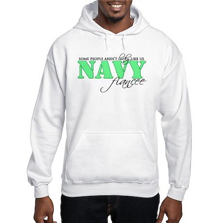 Lucky like us: Navy Fiancee Hooded Sweatshirt