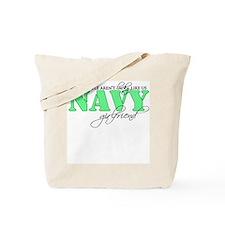Lucky llike us: Navy Girlfrie Tote Bag