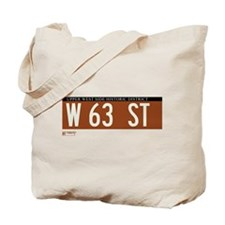 63rd Street in NY Tote Bag