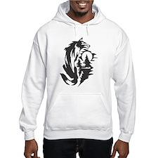 Wolf Black Design #23 Hoodie