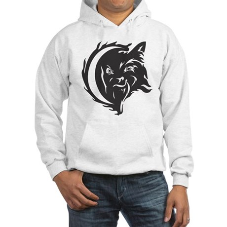 Wolf Black Design #21 Hooded Sweatshirt
