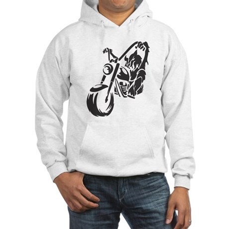 Wolf Black Design #20 Hooded Sweatshirt