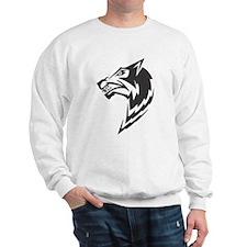 Wolf Black Design #16 Sweatshirt