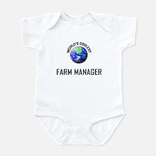 World's Coolest FARM MANAGER Infant Bodysuit