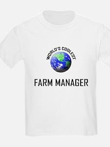 World's Coolest FARM MANAGER T-Shirt