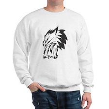 Wolf Black Design #9 Sweatshirt