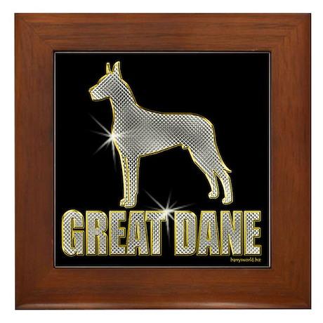 Bling Great Dane Framed Tile